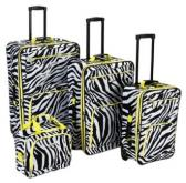 Rockland 4 Piece Zebra Luggage Set Review